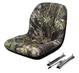 The ROP Shop New Camo HIGH Back SEAT w/Slide Track Kit for Case Skid Steer Loader Made USA