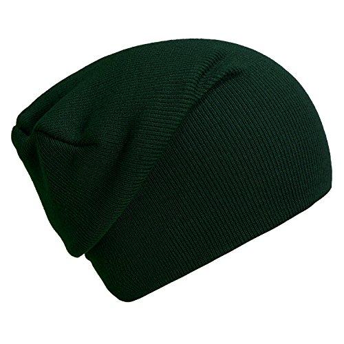 Verde suave moderno gorro invierno DonDon Pino slouch y clásico de de beanie diseño gorro abrigo q1Ow14Sx