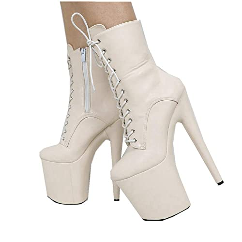 69fdd809d3b Amazon.com: Sorbern Ankle Boots for Women Extreme High Heels Thick ...