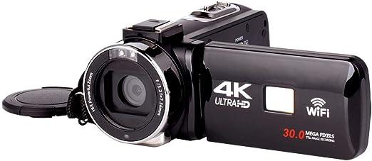 Videocámara con cámara de Video 4K, cámara con cámara Digital WiFi ...
