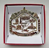 Washington D.C. Souvenir Christmas ORNAMENT Gift Capitol White House Monuments Memorials