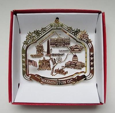 Washington D.C. Souvenir Christmas ORNAMENT Gift Capitol White House Monuments Memorials
