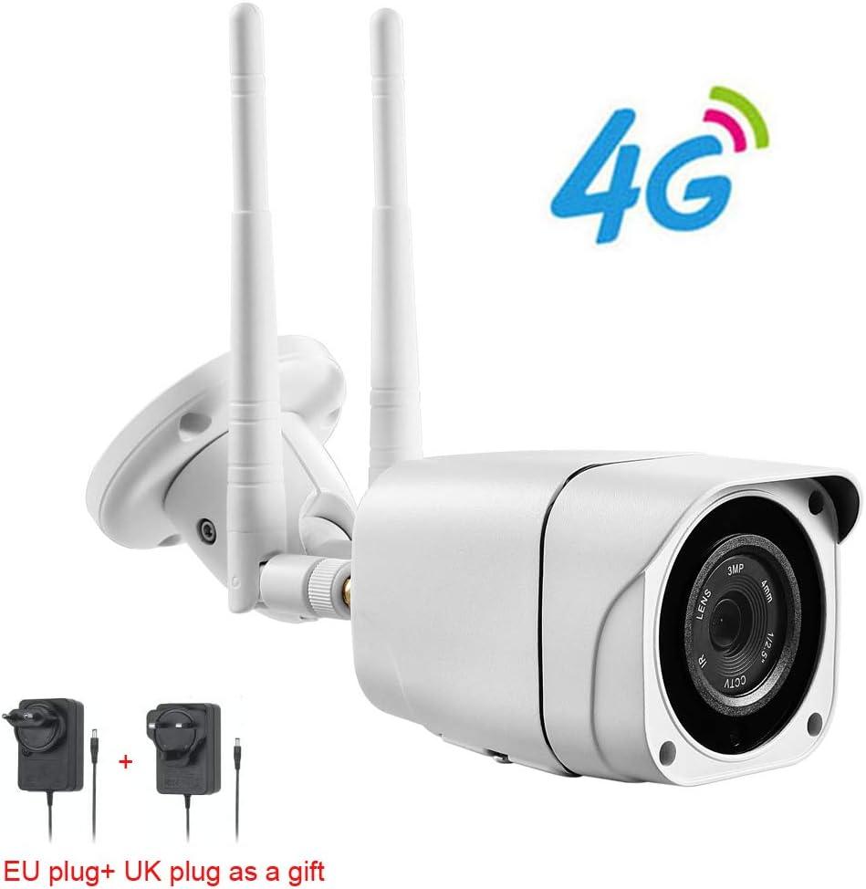 Full HD 1080P Bullet Cámara IP inalámbrica gsm 3G 4G Tarjeta SIM WiFi Exterior Cámaras CCTV Impermeables Visión Nocturna IR