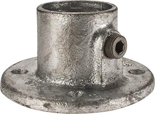 Kee Malleable Iron Pipe Rail Fitting Medium Flange 1-1//2 Inch Pipe