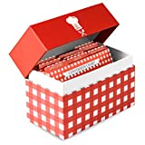 Little Kitchen Co Recipe Box and Cards Organizer Holder: 100 Blank 4x6 Recipe Cards 9 Tab Dividers & Conversion Chart   Keep Your Favorite Recipes at Hand