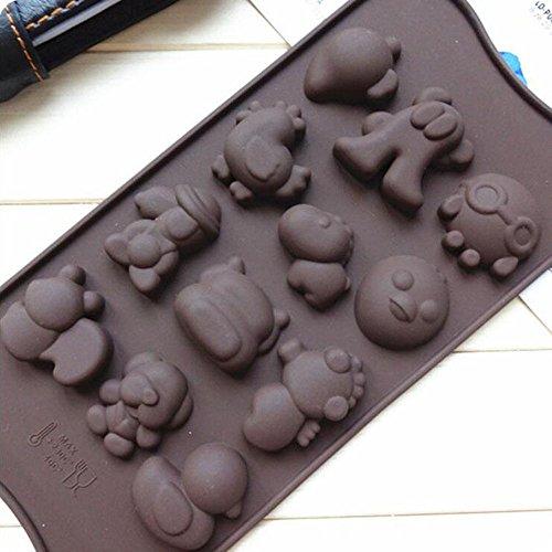 1 New Cake Mold Silicone Baking Pan Pizza Chocolate DIY Mould Kawaii Snoopy