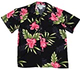 Two Palms Boys Orchid Fern Rayon Shirt Black 10