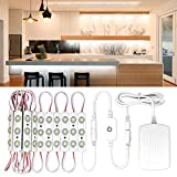 Senj Under Counter Lighting, Flexible LED Strip Stick-on Anywhere Dimmable Night Light, Safe Lights for Bedroom Closet Cabinet Wardrobe Stairs, Nature White (4000K, 10FT, 60Leds)