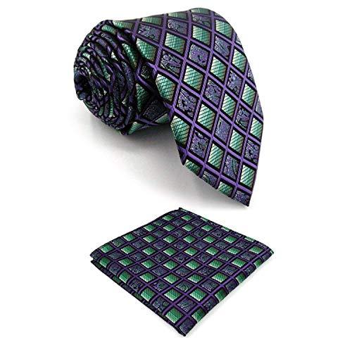 Shlax&Wing New Mens Necktie Pocket Square Set 63