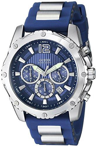 GUESS-Mens-U0167G3-Blue-Bold-Move-Chronograph-Sport-Watch