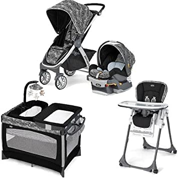Amazon.com: Chicco – Bravo carriola trío sistema con Playard ...