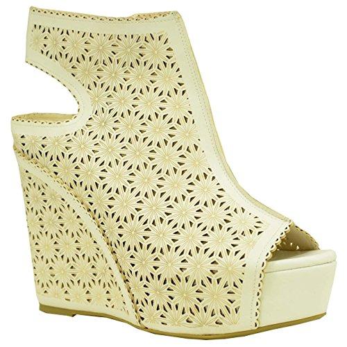 Cucu Fashion - Zapatos de tacón  mujer Blanco - blanco