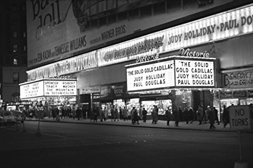 Victoria Theater Vintage Marque Sign Movie B&W Photo Art Pri
