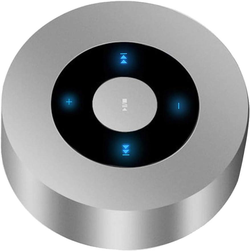 perfk Altavoz Inalámbrica Bluetooth Estéreo Subwoofer Micro USB de Carga Soporta Tarjeta de Memoria con Botón Táctil - Plata