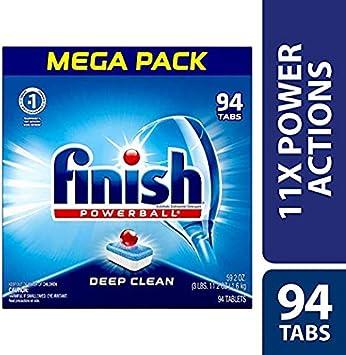 Amazon.com: Finish – todo en 1 – 94 ct – detergente para ...
