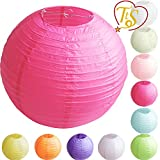 10' Round Paper Lanterns Lamp Shade Wedding Birthday Party Decoration Rose Re