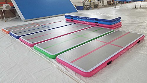 Ibigbean Inflatable Gymnastics Tumbling Mat Air Floor For