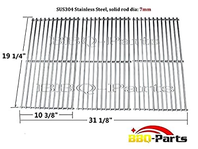 Hongso SCI1S3 BBQ Stainless Steel Wire Cooking Grid Replacement for Select Gas Grill Models by Brinkmann, Charmglow, Costco, Jenn Air, Members, Nexgrill, Perfect Flame, Sams Club and Others, Set of 3 by Hongso