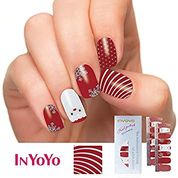Amazon Inyoyo H 235 Nail Polish Strips Christmas Designs