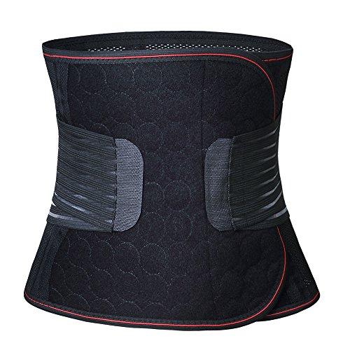 Paz Wean Postpartum Belly Wrap Band Girdle Abdominal Binder for Women Belt Corset Compression, Black