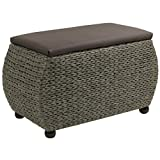 Hartleys Brown Woven Storage Trunk - Large