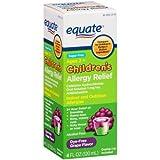 Equate Sugar Free Children's Grape Flavor Allergy Relief Liquid, 4 fl oz