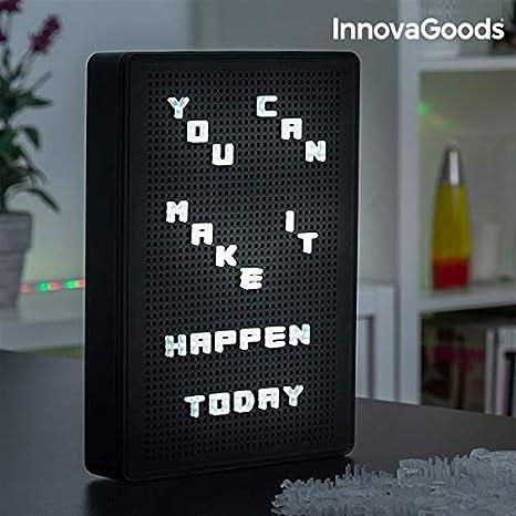 InnovaGoods Pizarra Perforada para Insertar Letras LED ...