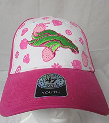 '47 Twins Denver Broncos Girls Size Youth Adjustable Strawberry Smoothie Baseball Cap/Hat E1 317 by '47 Twins