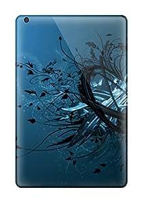 Premium Protective Hard Case For Ipad Mini- Nice Design - Blue
