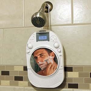 Amazon Com Stereo Shower Radio Amp Cd Player W Mirror Fog