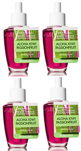 Bath and Body Works 4 Pack Aloha Kiwi Passionfruit Wallflower Fragrance Refill 0.8 Oz