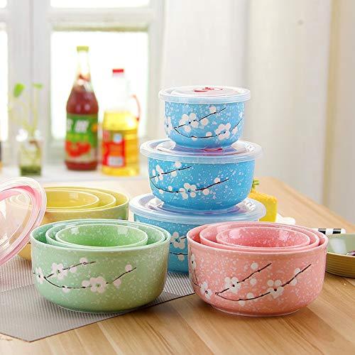 HKHJN - Bol de cerámica para microondas (3 Piezas), cerámica ...