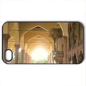 Lahore Fort,Lahore - Case Cover for iPhone 4 and 4s (Ancient Series, Watercolor style, Black)