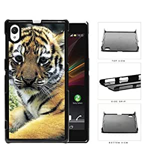 Cute Striped Baby Tiger Animal Close Up Hard Snap on Phone Case Cover Sony Xperia Z1