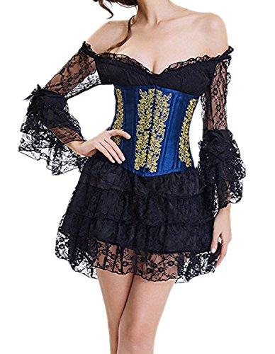 Gothik Burvogue Korsagen Bustiers Halloween Damen amp; 54picture Spitze Bügel HqwrO5q