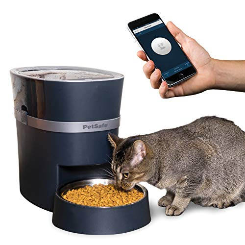 PetSafe Smart Feed Automatic Dog and Cat Feeder, or Stainless Steel Bowl Accessory, Wi-Fi Enabled for iPhone and Android Smartphones, Smart Pet Food Dispenser with Low Food Alerts, Works with Alexa