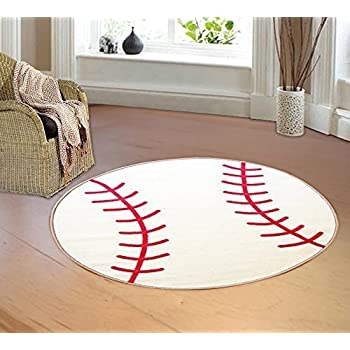 Furnish My Place Kids Sports Theme Children Area Rug Thick Anti Skid Rubber Backing For