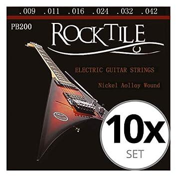 Rocktile cuerdas de guitarra eléctrica pack de 10: Amazon.es: Instrumentos musicales