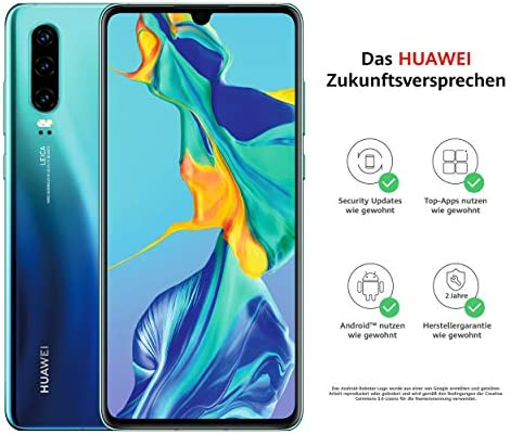 Huawei P30 Dual SIM Smartphone BUNDLE Aurora [Versión alemana]: Amazon.es: Electrónica