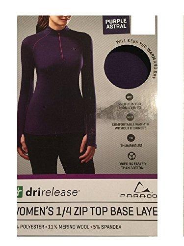 Paradox Performance Women's Merino Blend Zip-Up Long Sleeve Base Layer (Purple Astral, Medium) by Paradox (Image #1)