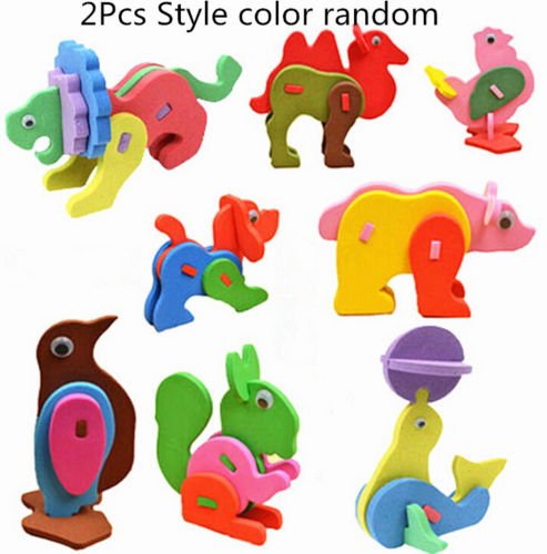 [MAZIMARK--2Pc Kid Child Mini EVA Foam LOAC Alphabet 3D Animal Puzzle Baby Educational Toys] (Costume Wonder Woman Ebay)
