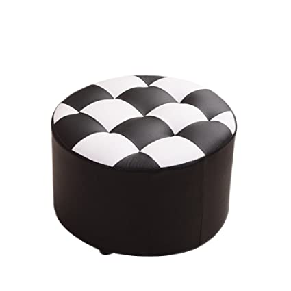 Miraculous Amazon Com Hmdx Faux Leather Ottoman Round Coffee Table Bralicious Painted Fabric Chair Ideas Braliciousco