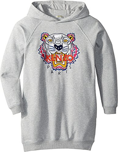 Kenzo Kids Girl's Hooded Tiger Fleece Dress (Big Kids) Grey 14 from Kenzo Kids