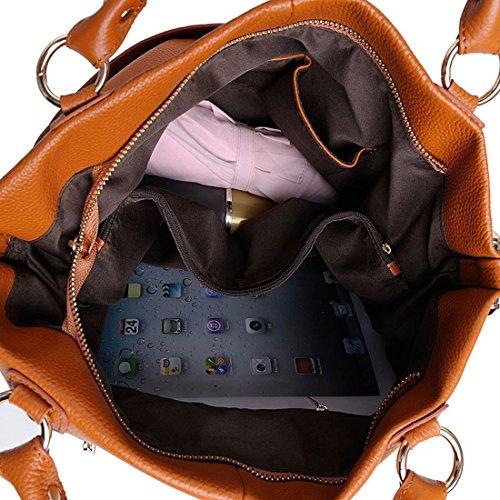 Women��s Grey Kuer Soft Hereby R Cross Tote Shoulder Satchel Bag Top Body Purse Light Handbag Leather Handle aqdww4E
