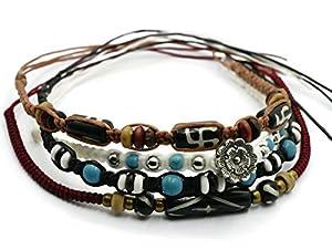 BrownBeans, Macrame Cord Reggae Summer Casual Wear Anklet Bracelet (CBCT7000)