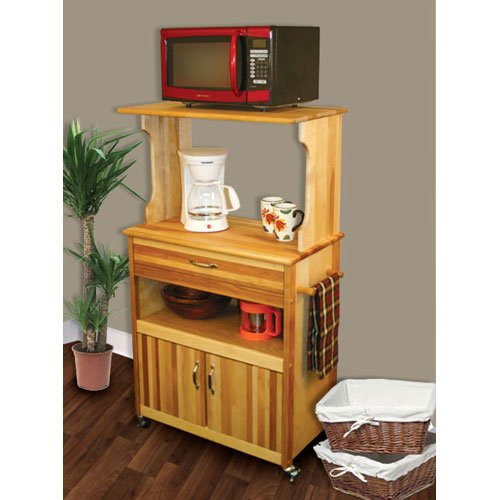 Catskill Craftsmen Microwave Cart with Open Shelving
