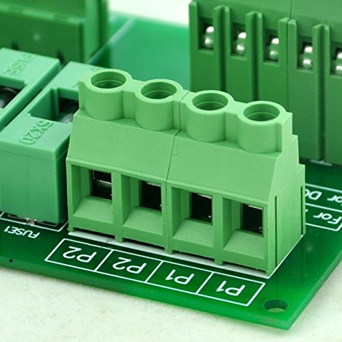 Electronics-Salon Panel Mount 10 Position Power Distribution Fuse Module Board, For AC230V . by Electronics-Salon (Image #5)
