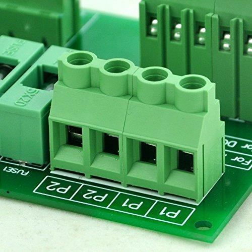 Electronics-Salon Panel Mount 10 Position Power Distribution Fuse Module Board, For AC110V . by Electronics-Salon (Image #5)