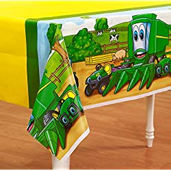 BirthdayExpress Johnny Tractor Plastic Tablecover