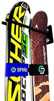 StoreYourBoard Ski Wall Storage Rack | Steel Home and Garage Skis Mount | Ski Couple